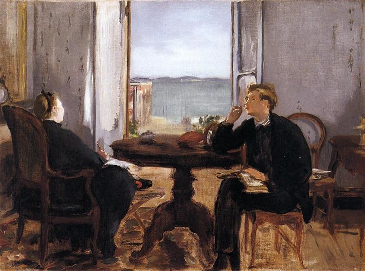 Interior at Arcachon, 1871 - Edouard Manet