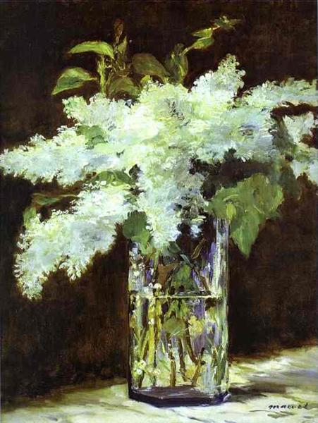 Lilac in a glass, c.1882 - Edouard Manet
