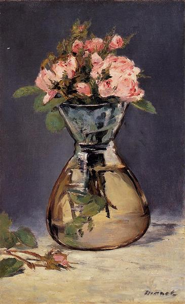 Moss Roses In A Vase 1882 Edouard Manet Wikiart