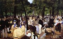 Musica nel giardino delle Tuileries - Edouard Manet