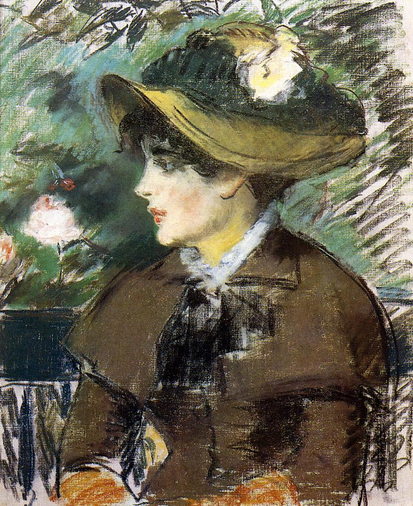 On The Bench 1879 Edouard Manet Wikiart Org
