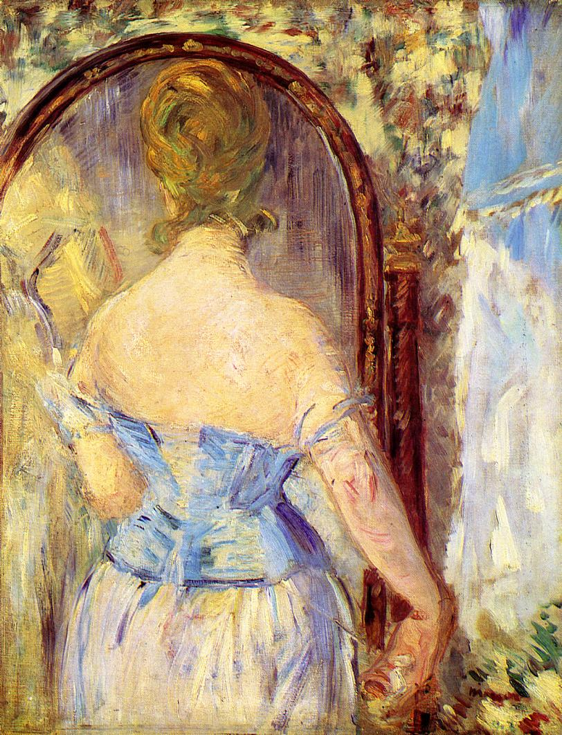 Vacation time inspired by art history: Edouard Manet, Woman Before a Mirror, 1877, Solomon R. Guggenheim Museum, New York City, USA.