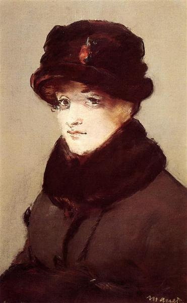 Woman in furs (Portrait of Mery Laurent), 1882 - Edouard Manet