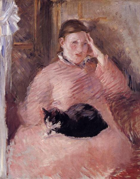 Woman with a Cat, c.1880 - Edouard Manet