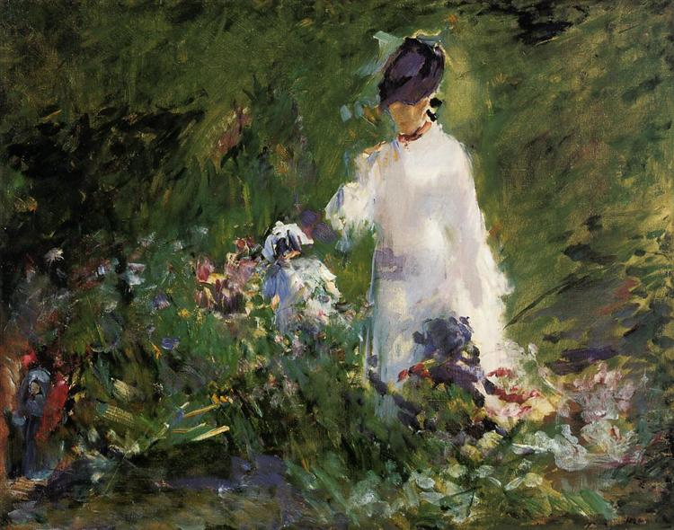 Young woman among the flowers, 1879 - Edouard Manet