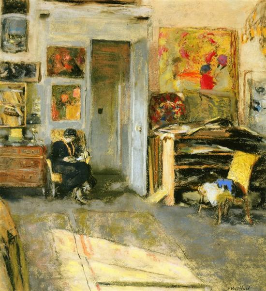 Madame Losse Hessel in Vuillard's Studio, 1915 - Edouard Vuillard