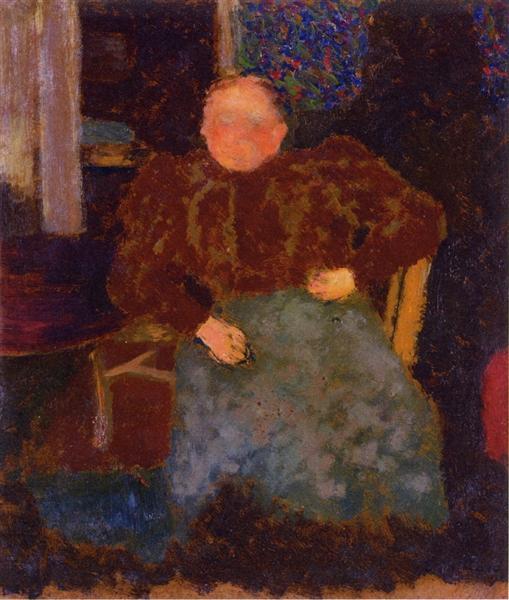 Madame Vuillard Seated, 1893 - Edouard Vuillard