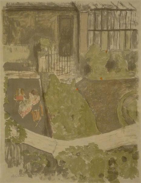 Thegardenoutside theworkshop, 1899 - Edouard Vuillard