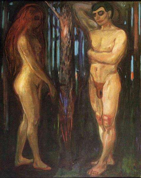 Adam and Eve, 1918 - Edvard Munch