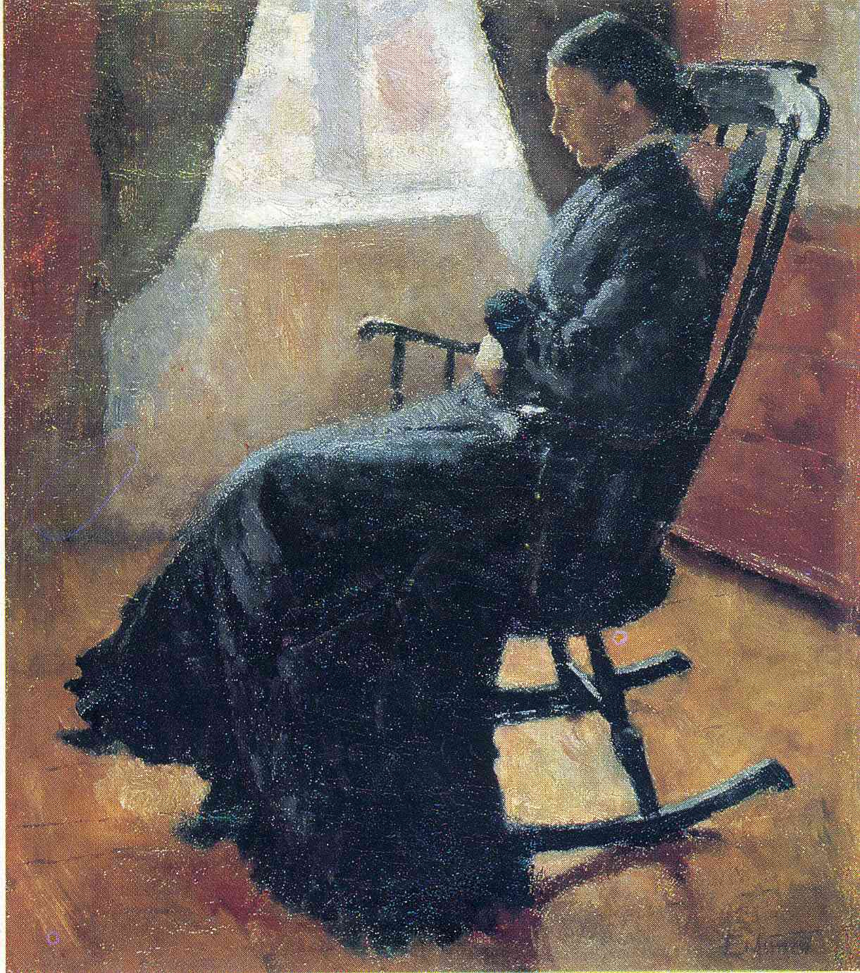 Aunt Karen In The Rocking Chair Edvard Munch Wikiart