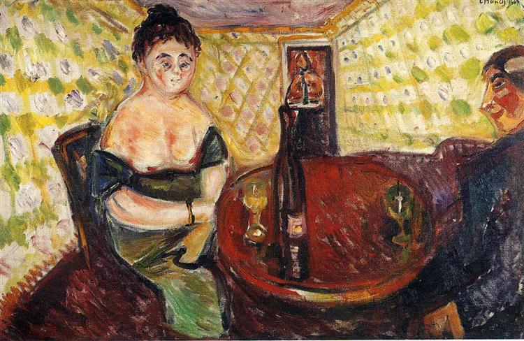 Brothel Scene. Zum sussen Madel, 1907 - Edvard Munch