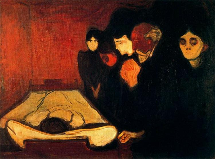 By the Deathbed (Fever), 1893 - Edvard Munch