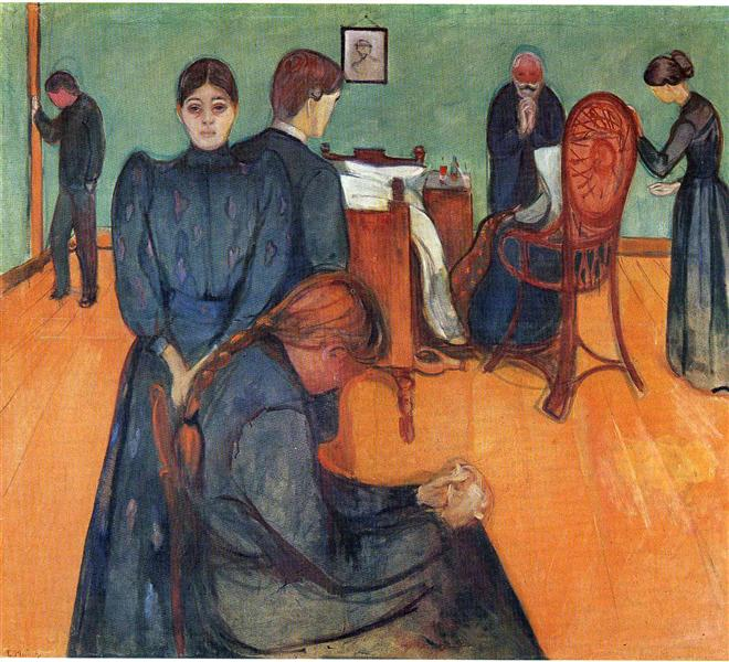 Death in the sickroom - Edvard Munch
