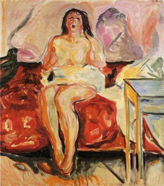 Girl Yawning, 1913 - Edvard Munch