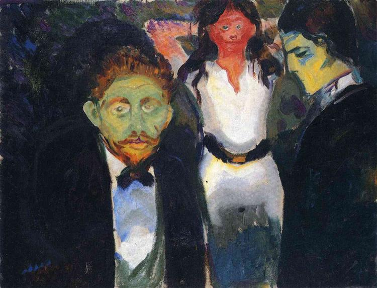 Jealousy. From the series The Green Room, 1907 - Edvard Munch