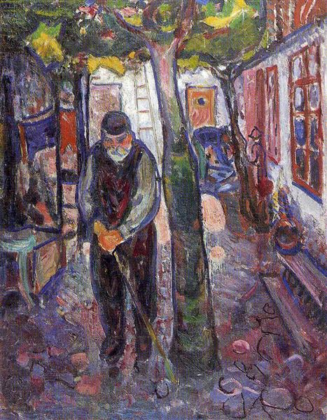 Old Man in Warnemunde, 1907 - Edvard Munch