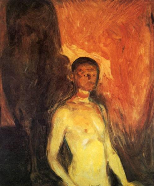 Self-Portrait in Hell - Munch Edvard