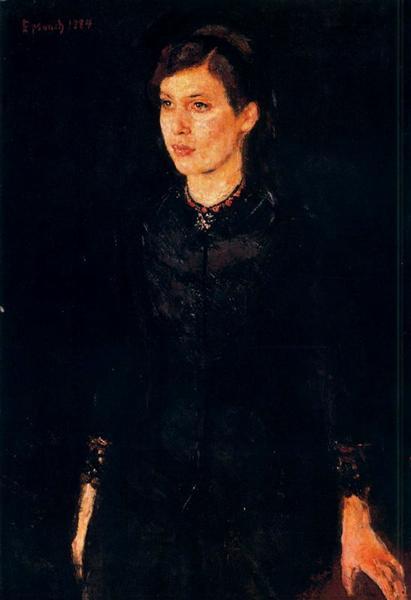 Sister Inger, 1884 - Edvard Munch