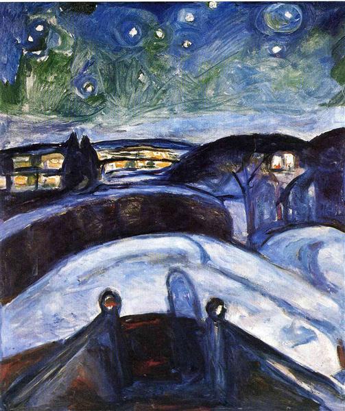 Starry night, 1922 - 1924 - Edvard Munch