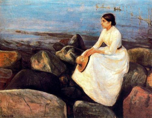 Summer Night (Inger on the Shore) - Edvard Munch