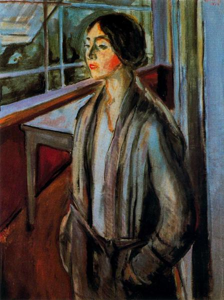 Woman on the Verandah, 1924 - Edvard Munch