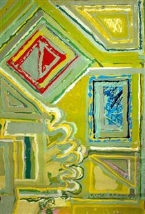 Untitled [yellows and greens] - Edward Avedisian
