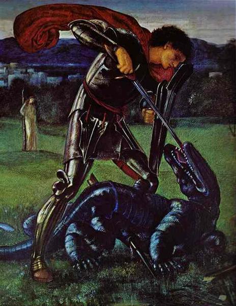 St. George and the Dragon, 1868 - Edward Burne-Jones