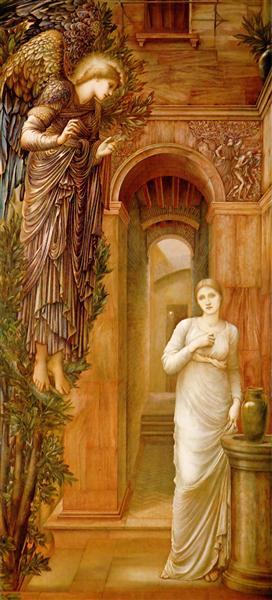 The Annnciation - Burne-Jones Edward