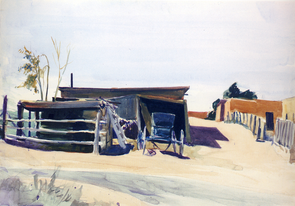 adobes and shed new mexico edward hopper