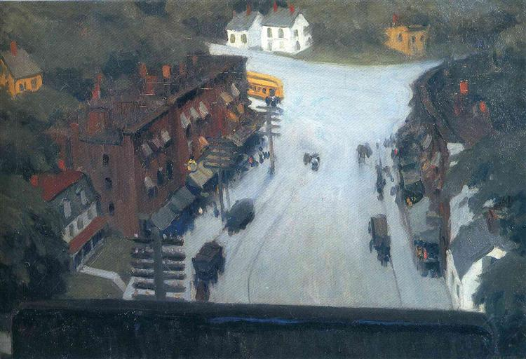 American Village, 1912 - Edward Hopper