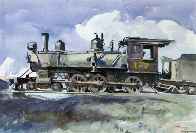 D. & R. G. Locomotive, 1925 - Edward Hopper