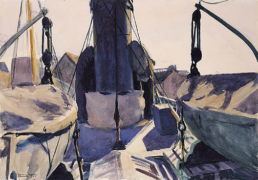 Funell of Trawler, 1924 - Edward Hopper
