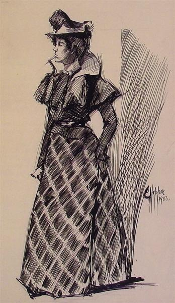 Study of a Standing Woman, 1900 - Edward Hopper