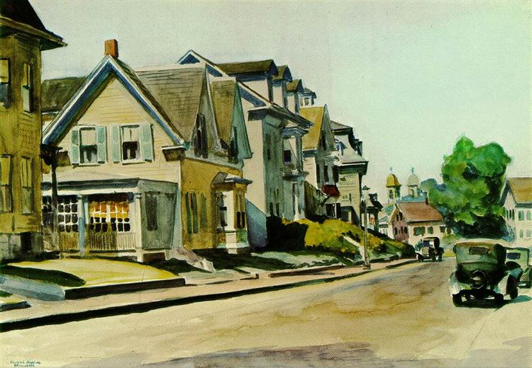 Sun on Prospect Street (Gloucester, Massachusetts), 1934 - Edward Hopper