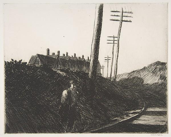 The Railroad, 1922 - Edward Hopper