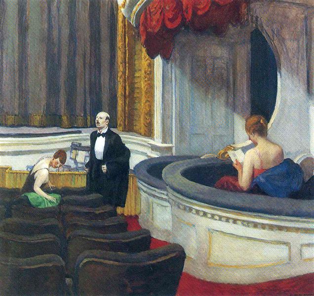 Two on the Aisle, 1927 - Edward Hopper