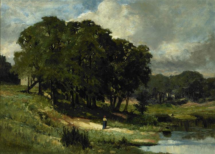 Woman Standing Near a Pond, 1880 - Edward Mitchell Bannister