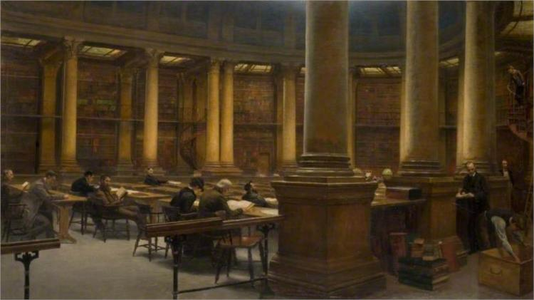 Birmingham Reference Library, the Reading Room, 1881 - Edward R. Taylor