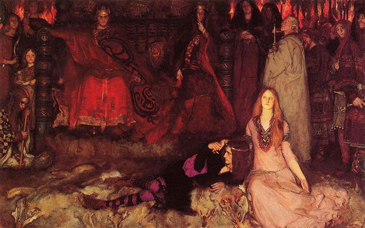 The Play Scene in Hamlet, 1897 - Edwin Austin Abbey