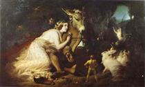 Scene From A Midsummer Night's Dream, Titania and Bottom - Эдвин Генри Ландсир