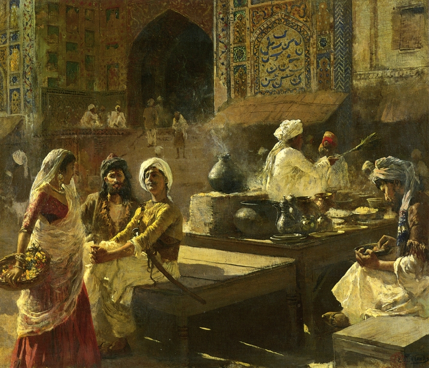 An Open Air Kitchen Lahore India Edwin Lord Weeks