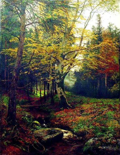 Creek in the Woods - Efim Volkov
