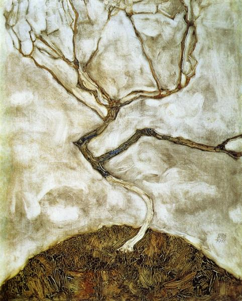 A Tree in Late Autumn, 1911 - Egon Schiele