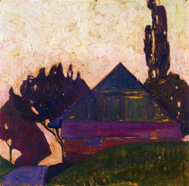 House Between Trees I, 1908 - Egon Schiele