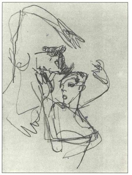 Untitled, 1918 - Egon Schiele
