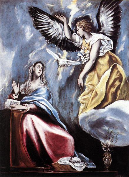Annunciation, c.1600 - El Greco