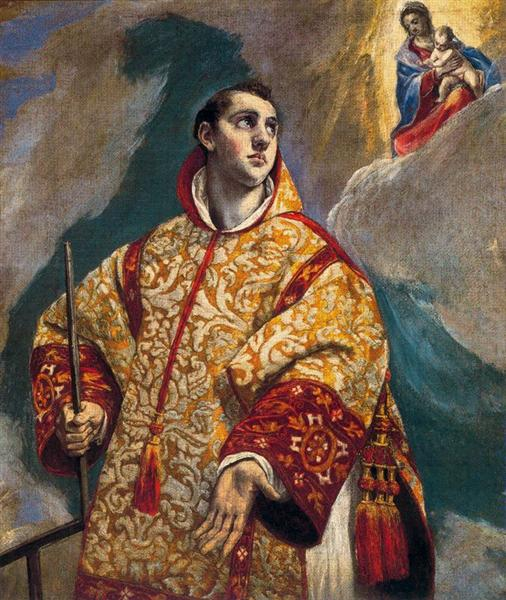 Apparition of the Virgin to St. Lawrence, c.1580 - El Greco