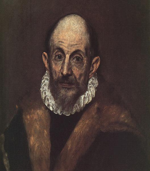 Portrait of an old man (presumed self-portrait of El Greco) - El Greco