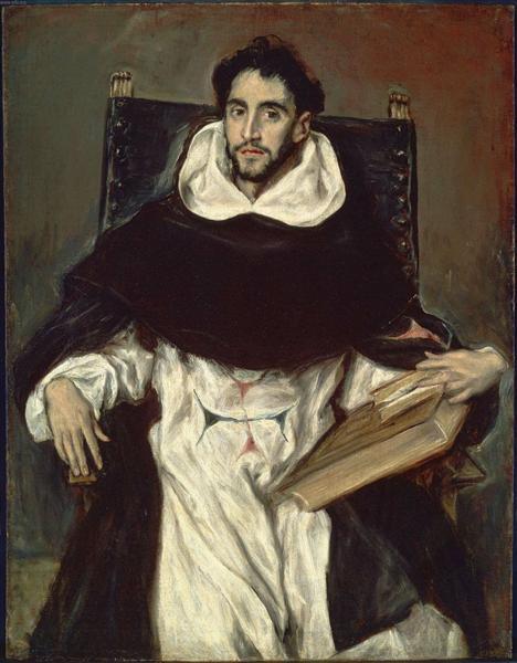 Portrait of Fray Hortensio Felix Paravicino, 1609 - El Greco