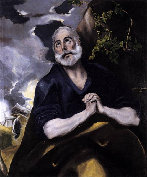 St. Peter in Penitence, c.1585 - El Greco